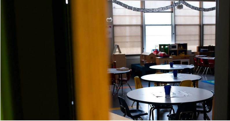 The Tulsa Board of Education voted last week to allocate $300,000 to upgrade HVAC systems at 31 schools to ensure the maximum amount of outside air is circulating throughout buildings like this one at Anderson Elementary School. (Whitney Bryen/Oklahoma Watch)