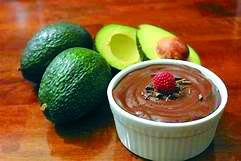 Avocados can be morphed into a delicious chocolate pudding.