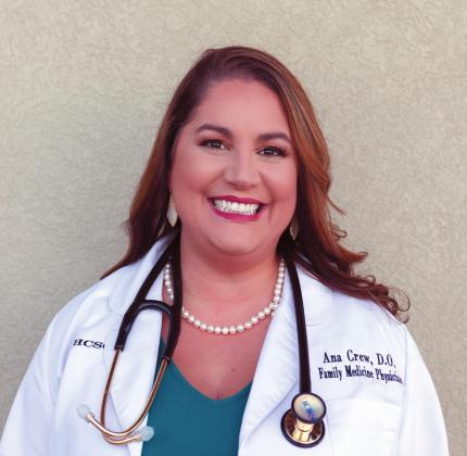 Dr. Ana Crew D.O., the Family Medicine Physician at the Family Health Center of Southern Oklahoma in Kingston reminds women that get regular breast exams helps find it early enough to treat. Courtesy photo