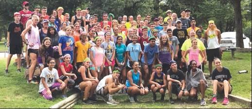 Courtesy Photos ABOVE a total of 72 students attended the Un-Mad-Cow Cross Country Camp, with 30 students being from Madill. Students learned various aspects of cross country training. BELOW are members of the Madill High School Cross Country team.