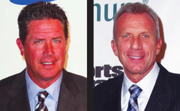 Miami Dolphin Dan Marino (left) surpasses Joe Montana (right) as the highst paid NFL player with a 5-year extension for $25 million. Courtesy photos