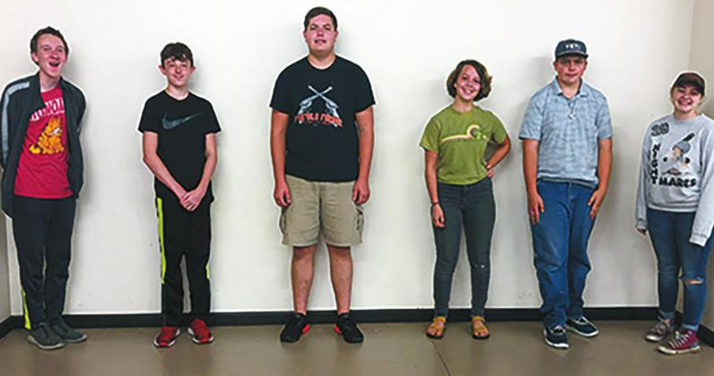 Marshall County 4-H was represented at the Oklahoma 4-H Virtual Round Up by Barrick Idell, Eli West, Cole Stepp, Katherine Taylor, Colton Hunt, and Samantha Hunt (not pictured Kristen Chapa and Hayden Harper). Courtesy photo