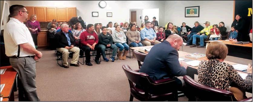 Matt Caban • The Madill Record A packed house of students, their parents and families attended the Jan. 13 Madill Public Schools Board of Education Meeting. Also in attendance were various campus administrators and school staff.