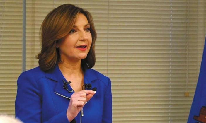 In this February 2019 appearance, State Superintendent Joy Hofmeister spoke about the new school report cards. Credit: Whitney Bryen / Oklahoma Watch